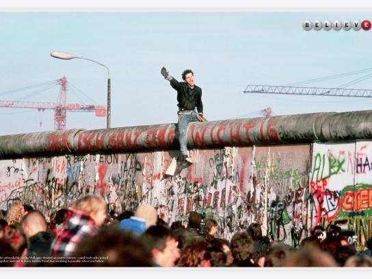 The California Lottery Outdoor Ad -  Berlin Wall