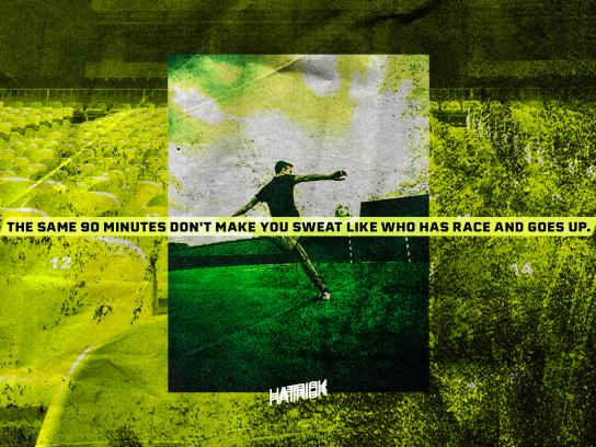 Hattrick Print Ad - The Same 90 Minutes