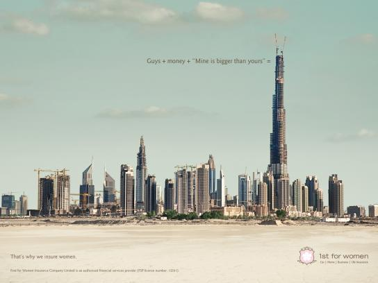 1st for Women Insurance Brokers Print Ad -  Dubai