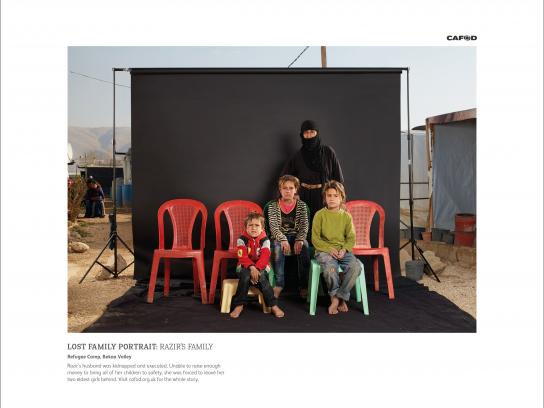 CAFOD Print Ad -  Lost Family Portraits, 3