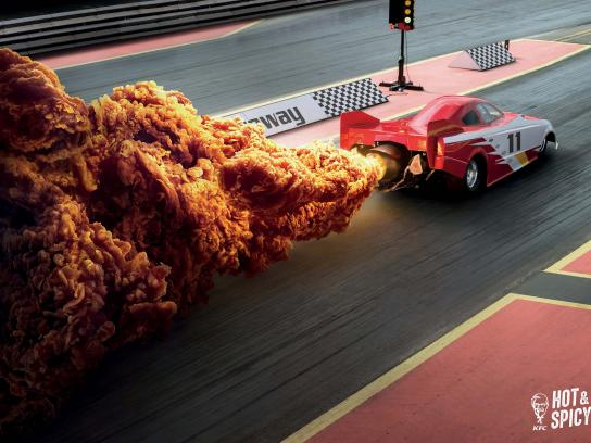 KFC Print Ad - Hot & Spicy - Dragster