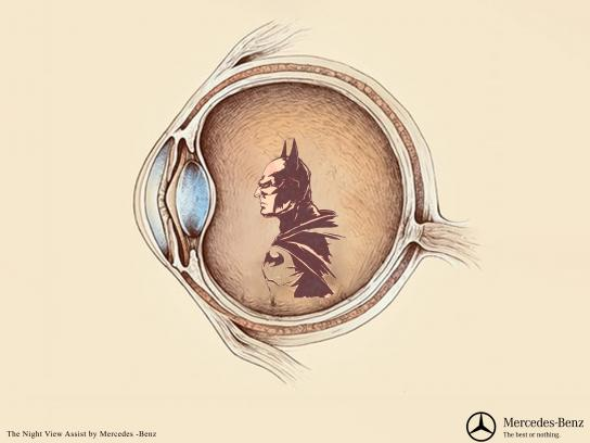 Mercedes Print Ad - Batman
