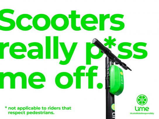 Lime Print Ad - SH*TTY SCOOTERS