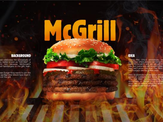 Burger King Integrated Ad - McGrill