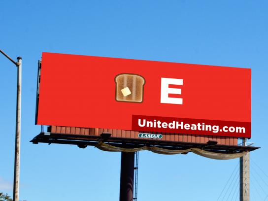 United Heating & Cooling Outdoor Ad - Toasty