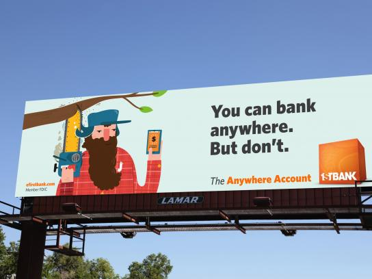 FirstBank Outdoor Ad - Lumberjack