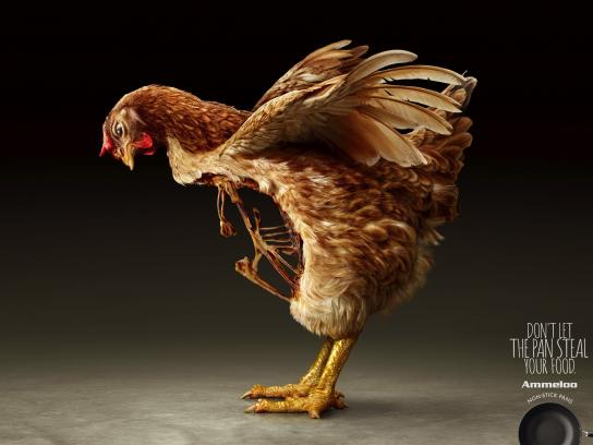 Ammeloo Print Ad - Breastless Hen