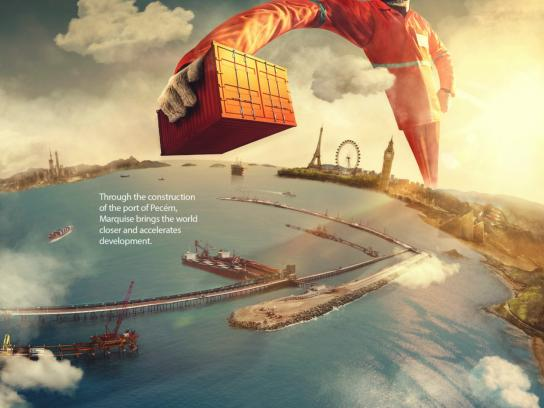 Marquise Group Print Ad - Brings the world closer