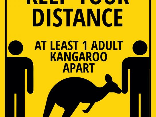 National Parks and Wildlife Service South Australia Outdoor Ad - Keep Your Distance