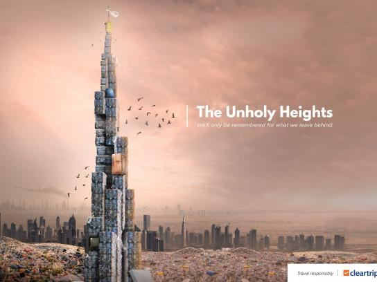 Cleartrip Print Ad - Planet Plastic - The Unholy Heights