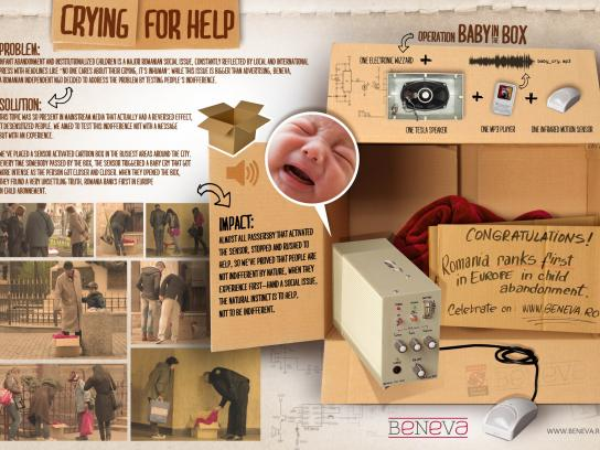 Beneva Foundation Ambient Ad -  Crying for Help