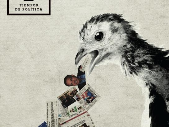 Tiempos de Política Print Ad -  A program that talks about stuff that makes everyone throw up, 1