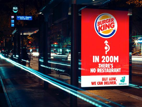 Burger King Outdoor Ad - Burger King reports its absence