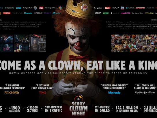 Burger King Integrated Ad - Scary Clown Night