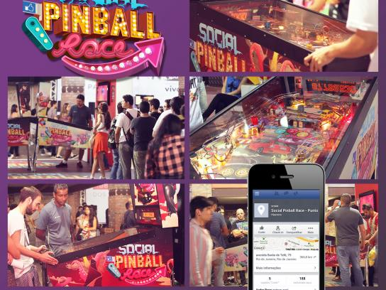 FIAT Ambient Ad -  Social pinball race