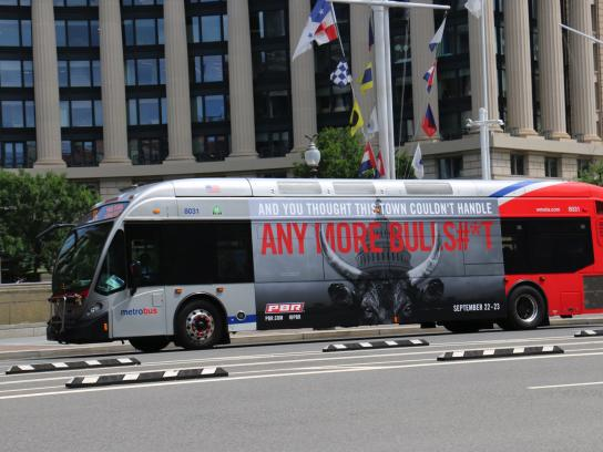 Professional Bull Riders Outdoor Ad - PBR Calls BS in DC