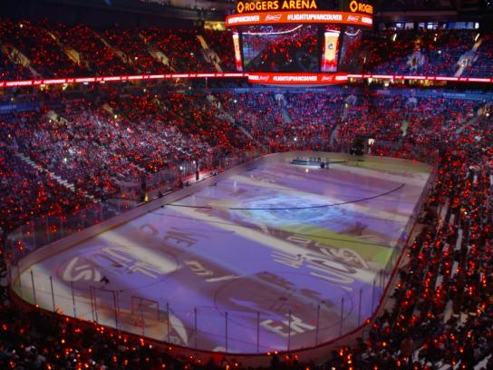Budweiser Experiential Ad - Goal-Synced Arenas