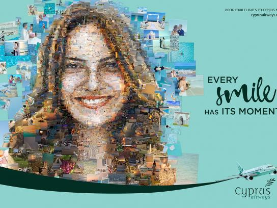 Cyprus Airways Print Ad - Smile, 1
