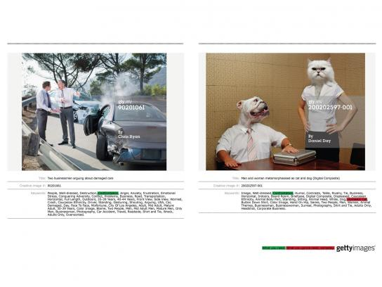 Getty Images Print Ad -  Dog cat