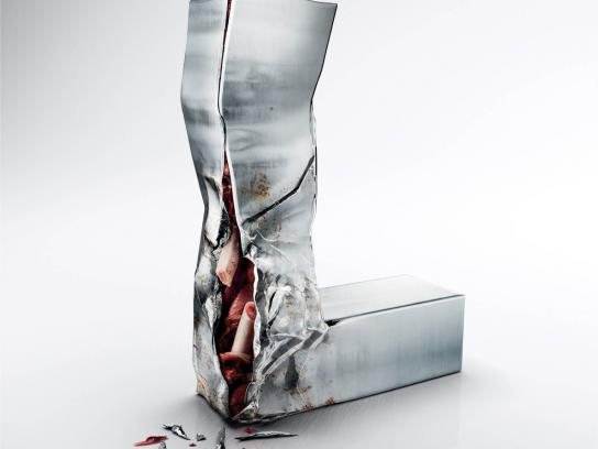 Mini Print Ad -  Injured Text, L
