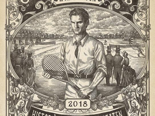 Wimbledon Outdoor Ad - History is There to be Beaten, 1