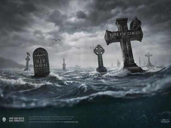 Coral Restoration Foundation Print Ad - Save Our Reefs, Save Ourselves