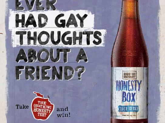Honesty Box Cider Outdoor Ad -  Gay Thoughts