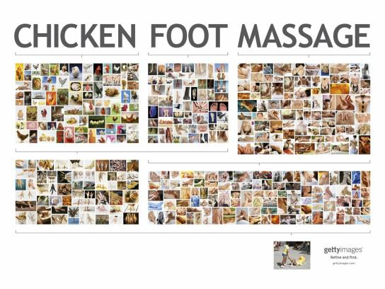 Getty Images Print Ad -  Massage