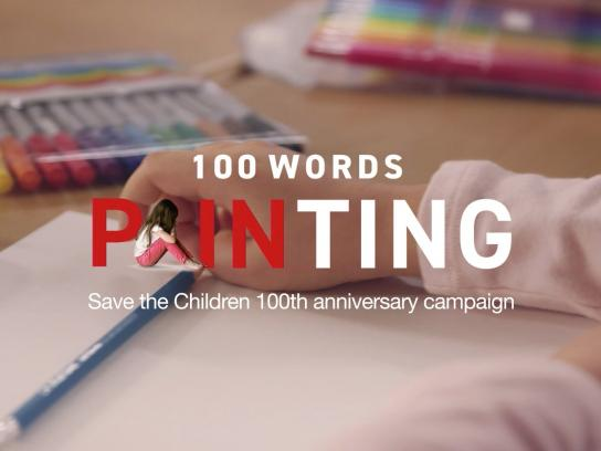 Save the Children Experiential Ad - 100 words pain-ting