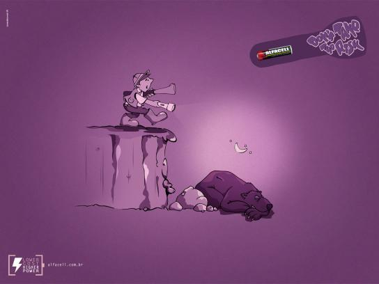 Alfacell Print Ad -  Don't take the risk, Big bear
