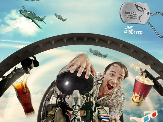 5th World Military Games Print Ad -  Live is Better, Air Rally