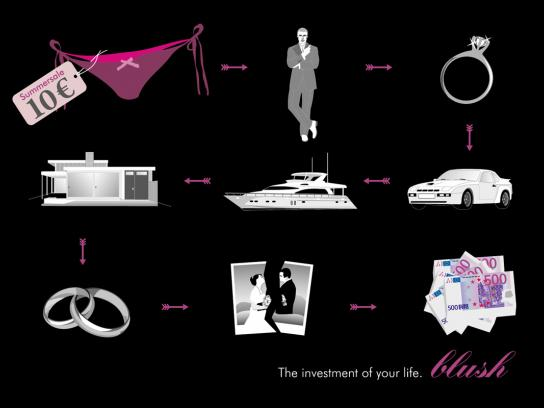 Blush Print Ad -  The investment of your life