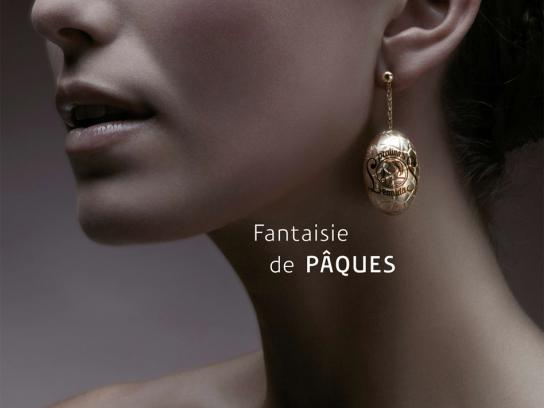 Leonidas Print Ad -  Easter jewelry, Earring