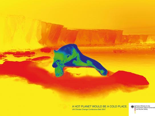 Federal Ministry for the Environment Print Ad -  Polar bear