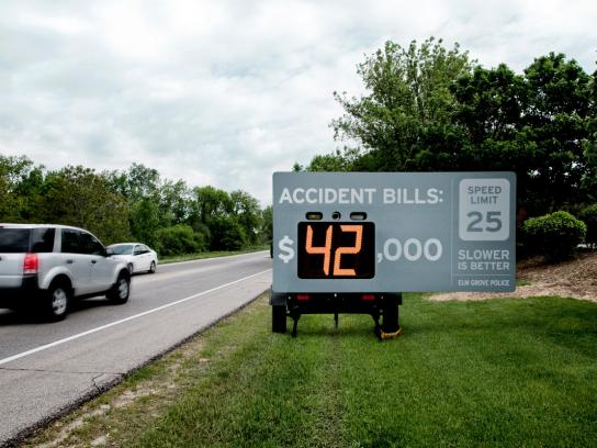 Elm Grove Police Departmen Ambient Ad -  Slower is better, 1