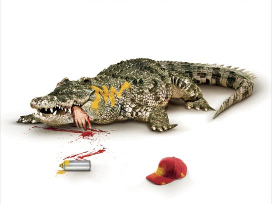 Propague Print Ad -  Crocodile