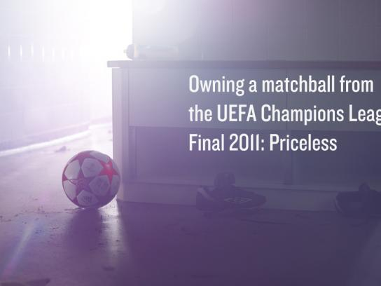 MasterCard Outdoor Ad -  Priceless, Matchball