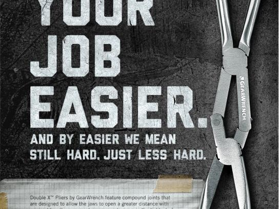 GearWrench Print Ad -  Double X Pliers