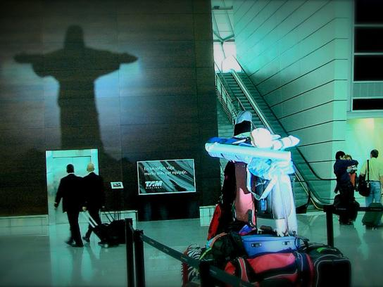 TAM Airlines Ambient Ad -  Shadows