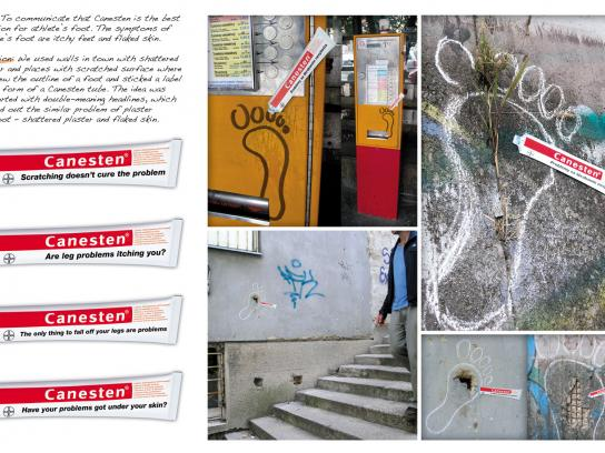 Canesten Ambient Ad -  Stickers ambient