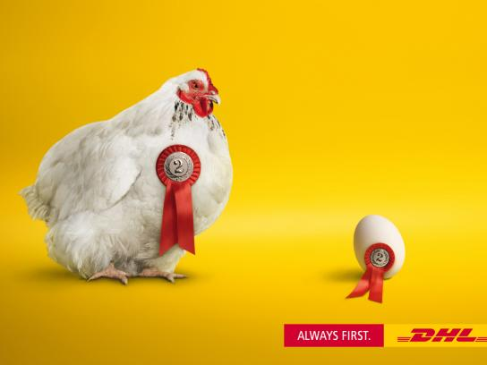 DHL Print Ad -  Chicken or egg