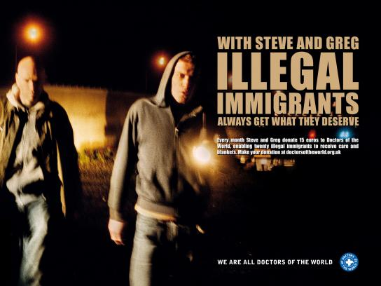 Doctors of the World Print Ad -  Immigrants