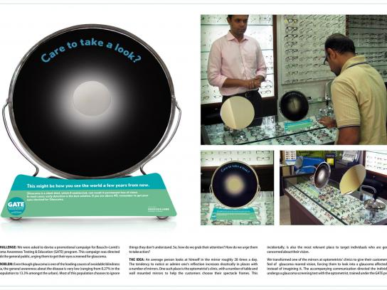 Bausch & Lomb Outdoor Ad -  Mirror