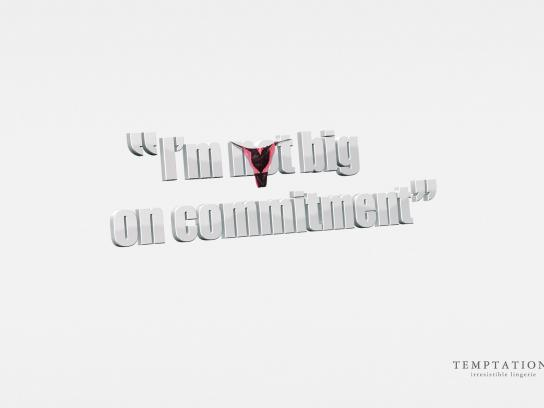 Temptations Print Ad -  Commitment