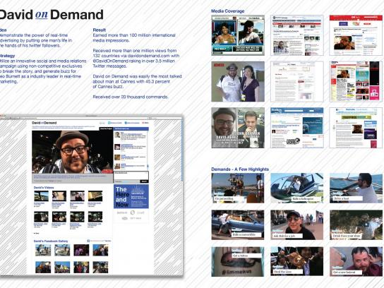 Leo Burnett Digital Ad -  David On Demand