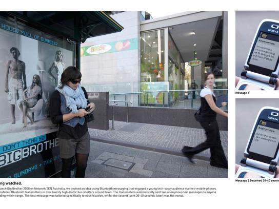 Channel TEN Ambient Ad -  Bus stops