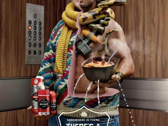 Old Spice Print Ad -  Action Hero