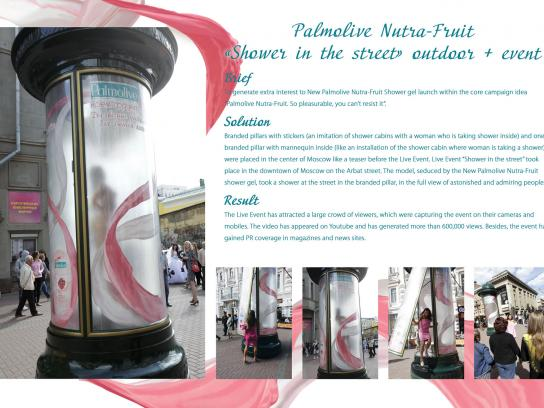 Colgate Palmolive Ambient Ad -  Naked shower in the street