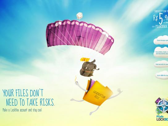 Psafe LockBox Print Ad -  Parachute