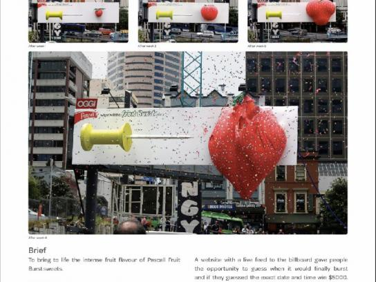 Pascall Ambient Ad -  Fruit burst